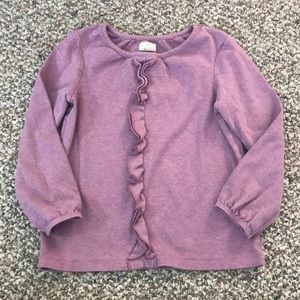 Olive Juice Mauve Ruffle Long Sleeve Girls 6